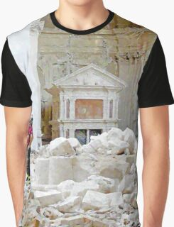 L'Aquila: in the collapsed church firefighter and rubble Graphic T-Shirt