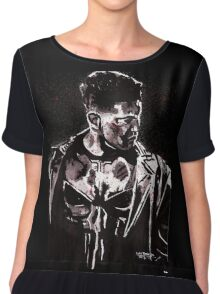 Punisher Ink Splatter Chiffon Top