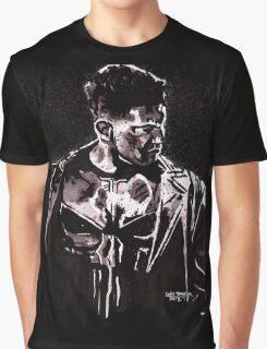 Punisher Ink Splatter Graphic T-Shirt