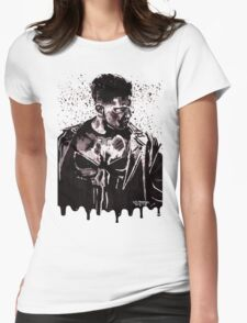 Punisher Ink Splatter Womens Fitted T-Shirt