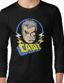 Cable •X-Men Animated Cartoon Long Sleeve T-Shirt