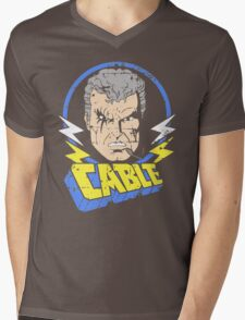 Cable • X-Men Animated Cartoon Mens V-Neck T-Shirt