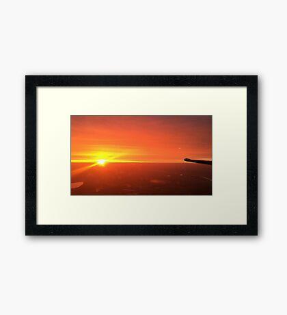 Sunset climb out Framed Print