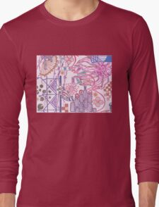 new york city tangle with flower Long Sleeve T-Shirt