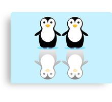 PENGUIN PAIR ON ICE Canvas Print