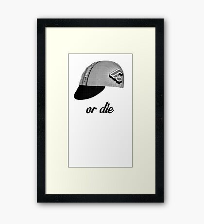 fixie ride or die Framed Print