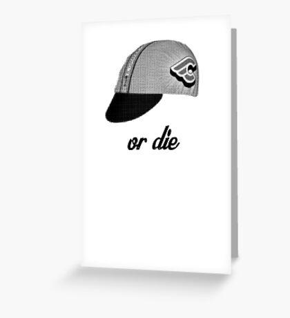 fixie ride or die Greeting Card