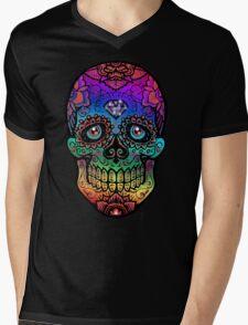 Sugar Skull II Mens V-Neck T-Shirt