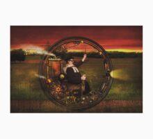 Steampunk - The gentleman's monowheel Kids Tee