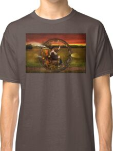 Steampunk - The gentleman's monowheel Classic T-Shirt