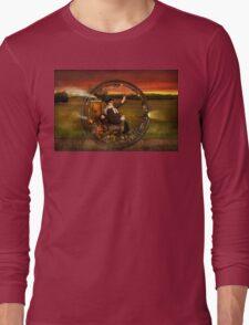 Steampunk - The gentleman's monowheel Long Sleeve T-Shirt