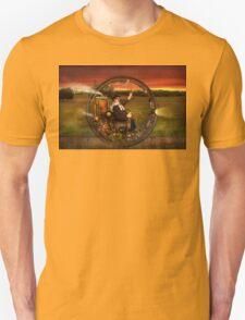 Steampunk - The gentleman's monowheel Unisex T-Shirt