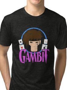 Gambit •X-Men Animated Cartoon Tri-blend T-Shirt