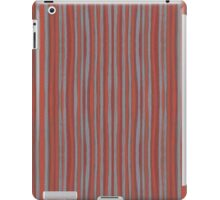 """Grey and terracotta stripes"" abstract pattern, pastel, grey and terracotta, earth tones iPad Case/Skin"