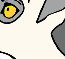 Ring Tailed Lemur Headshot Graphic Sticker