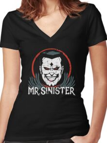 Mr. Sinister •X-Men Animated Cartoon Women's Fitted V-Neck T-Shirt