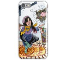 Knitting Witch Watercolor Painting iPhone Case/Skin