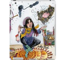 Knitting Witch Watercolor Painting iPad Case/Skin