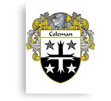 Coleman Coat of Arms/Family Crest Canvas Print