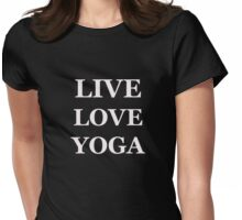 LIVE LOVE YOGA  Womens Fitted T-Shirt