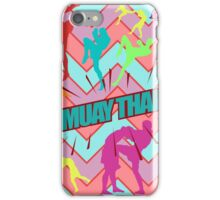 muay thai boxing pattern sign board thailand martial art iPhone Case/Skin