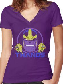 Thanos • Avengers Infinity Wars  Women's Fitted V-Neck T-Shirt