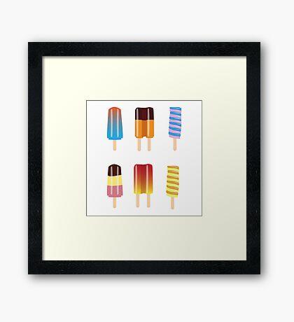 Raining Popsicles Framed Print