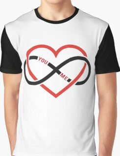 never ending love, red heart with infinity sign Graphic T-Shirt