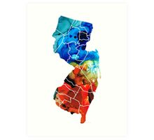 New Jersey - State Map By Sharon Cummings Art Print