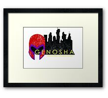 Genosha (The Cities of Comics) Framed Print