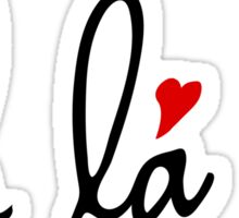 Oh la la, French word art with red hearts Sticker