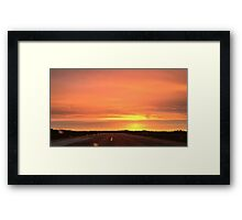 Sunset runway Framed Print
