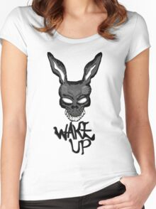 Wake Up, Donnie. Women's Fitted Scoop T-Shirt
