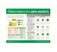 Cook Smarts' Simple Vinaigrette Cooking Formula Art Print