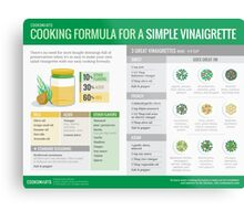 Cook Smarts' Simple Vinaigrette Cooking Formula Metal Print