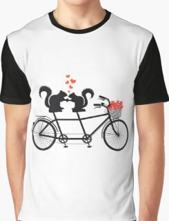 tandem bicycle with squirrels Graphic T-Shirt
