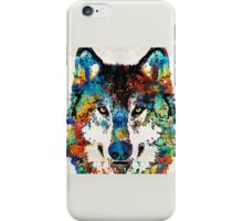 Wolf Art Print - Hungry - By Sharon Cummings iPhone Case/Skin