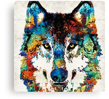 Wolf Art Print - Hungry - By Sharon Cummings Canvas Print