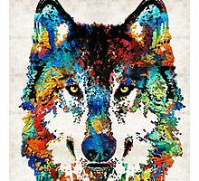 Wolf Art Print - Hungry - By Sharon Cummings Photographic Print