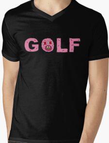 GOLF WANG Mens V-Neck T-Shirt