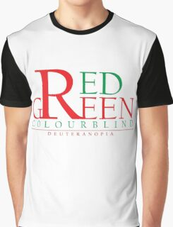 Colourblind - Red Green Graphic T-Shirt