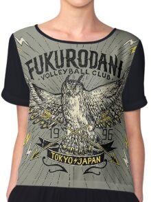 Haikyuu Team Types: Vintage Fukurodani Chiffon Top