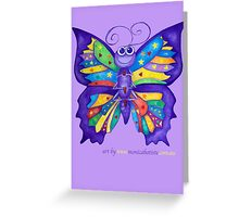 Yoga Butterfly; Namaste  Greeting Card