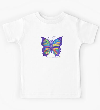 Yoga Butterfly; Namaste  Kids Tee