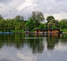 A Panoramic View of The Serpentine, Hyde Park, London by Steve