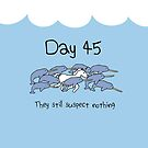 Day 45. They still suspect nothing (Narwhals + Unicorn) by jezkemp