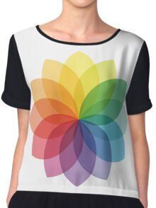 Abstract colorful flower design Chiffon Top