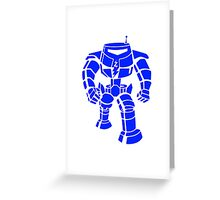 Manbot - Blue Variant Greeting Card