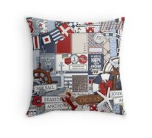 Fabric Art, Seaside Print Throw Pillow