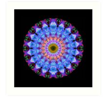 Sacred Crown - Mandala Art By Sharon Cummings Art Print
